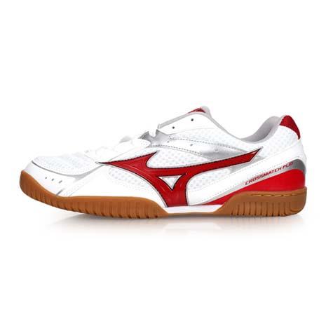 【MIZUNO】CROSSMATCH PLIO RX3 男女桌球鞋 - 美津濃 白紅27.5