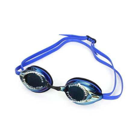 【SPEEDO】成人競技偏光泳鏡 AQUAPULSE MAX 2 反光鏡面 -游泳 藍金F