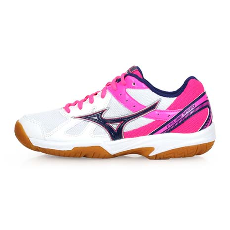 【MIZUNO】CYCLONE SPEED 女排球鞋-美津濃 白亮粉25