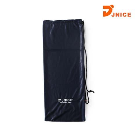 【JNICE】單支裝羽拍絨布袋-束口袋 收納袋 羽球 羽毛球拍 丈青白F