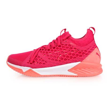 【PUMA】IGNITE XT NETFIT 女訓練運動鞋-慢跑 路跑 紫粉橘23.5