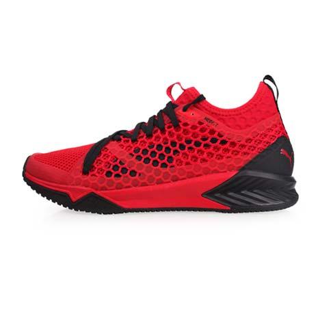 【PUMA】IGNITE XT NETFIT 男訓練運動鞋-慢跑 路跑 紅黑26