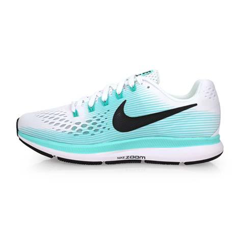 【NIKE】WMNS AIR ZOOM PEGASUS 34 女慢跑鞋-路跑 白湖水綠23