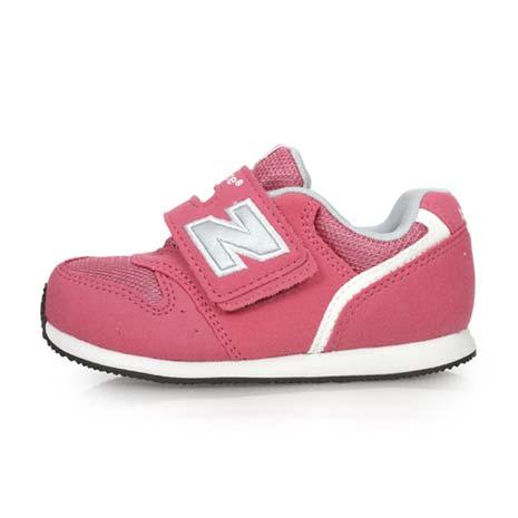 【NEWBALANCE】996系列 男女兒童休閒運動鞋-W-童鞋 NB 魔鬼氈 粉紅銀15