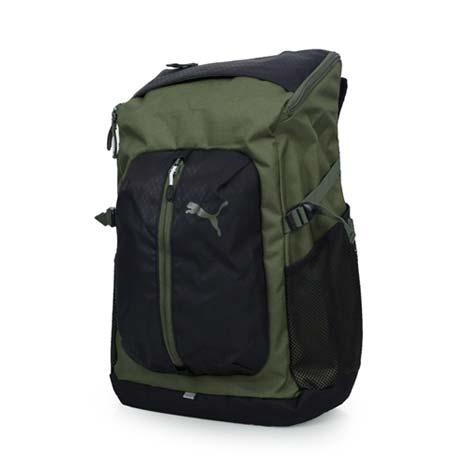 【PUMA】APEX後背包-雙肩包 電腦包 旅行包 行李包 登山 軍綠黑F