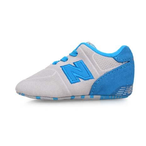 【NEWBALANCE】574系列 男女嬰兒運動鞋-WIDE-NB N字鞋 童鞋 淺灰水藍8.5