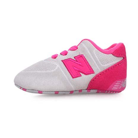 【NEWBALANCE】574系列 男女嬰兒運動鞋-WIDE-NB N字鞋 童鞋 淺灰粉紅10
