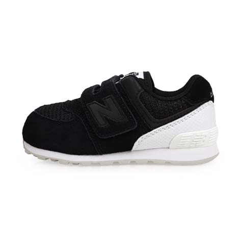 【NEWBALANCE】574系列 男女兒童復古慢跑鞋-魔鬼氈-WIDE-寬楦 黑白15