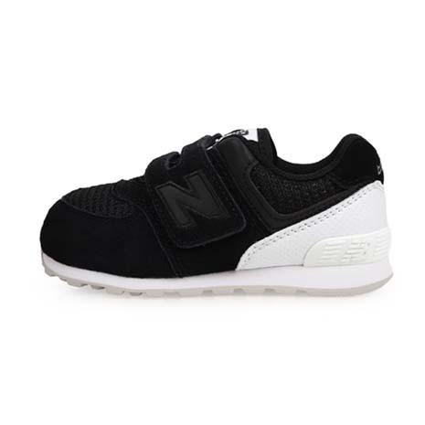 【NEWBALANCE】574系列 男女兒童復古慢跑鞋-魔鬼氈-WIDE-寬楦 黑白16