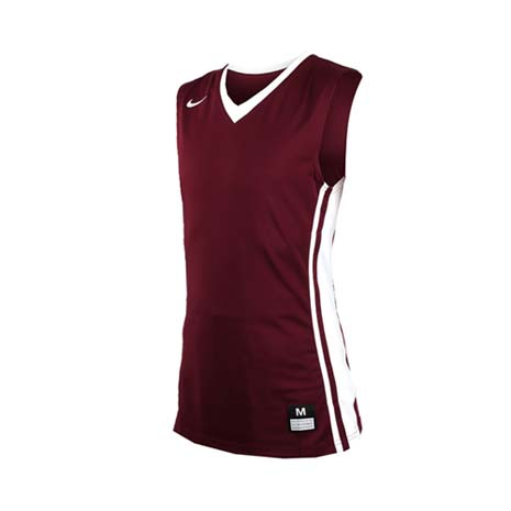 【NIKE】男V領籃球針織背心-無袖背心 運動背心 球衣 酒紅L