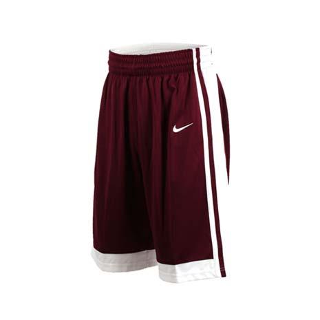 【NIKE】男籃球針織短褲-路跑 慢跑 訓練 五分褲 酒紅2XL