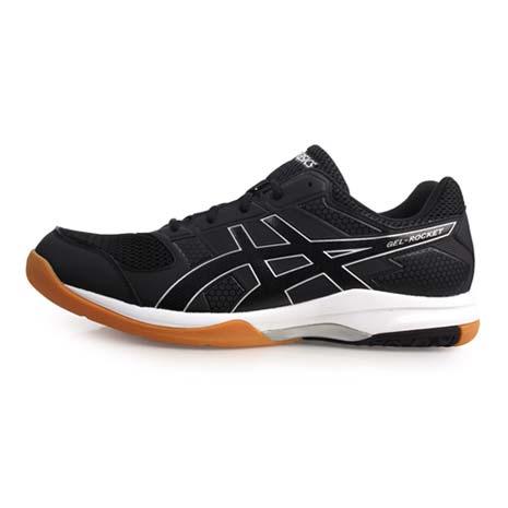 【ASICS】GEL-ROCKET 8 男排羽球鞋-排球 亞瑟士 黑白28.5