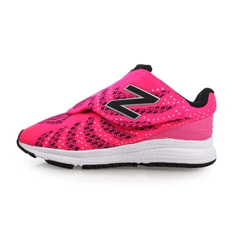 【NEWBALANCE】女兒童運動鞋-魔鬼氈-W-寬楦 NB N字鞋 慢跑 粉紅黑15
