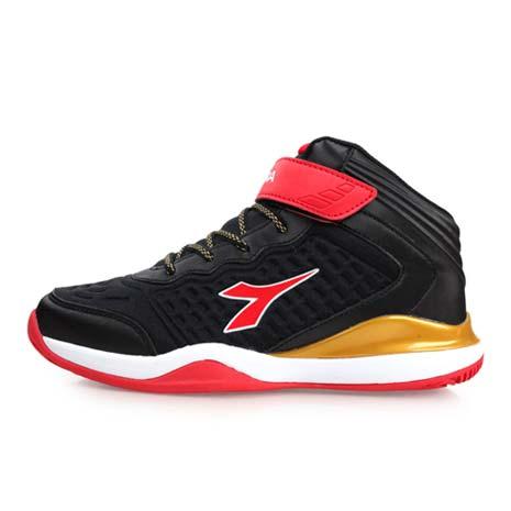 【DIADORA】男女大童籃球鞋-中筒 黑紅金25