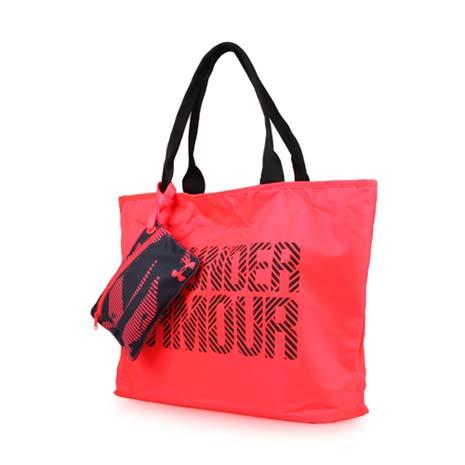【UNDER ARMOUR】BIG WORDMARK 女托特包 2.0-側背包 手提袋 桃紅F