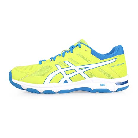 【ASICS】GEL-BEYOND 5 男排羽球鞋-排球 羽球 訓練 亞瑟士 芥末綠藍26.5