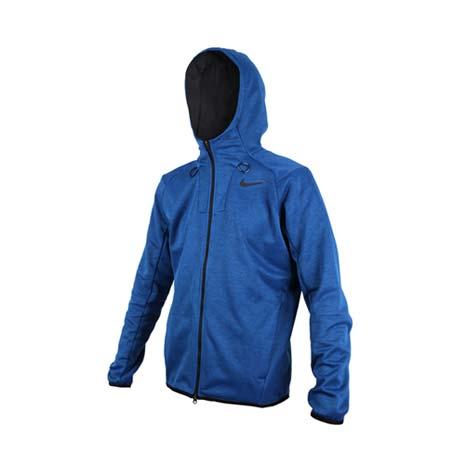 【NIKE】GOLF 男快速排汗連帽夾克-高爾夫 立領 刷毛 長袖外套 深藍灰2XL
