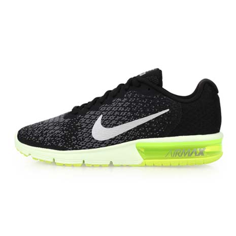 【NIKE】AIR MAX SEQUENT 2 男慢跑鞋-路跑 氣墊 訓練 黑螢光綠28