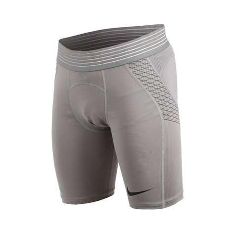 【NIKE】男針織短褲-緊身短褲 慢跑 路跑 訓練 灰黑S