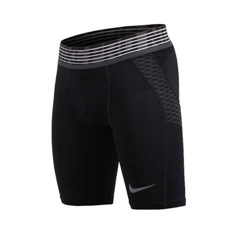 【NIKE】男針織短褲-緊身短褲 慢跑 路跑 訓練 黑灰L