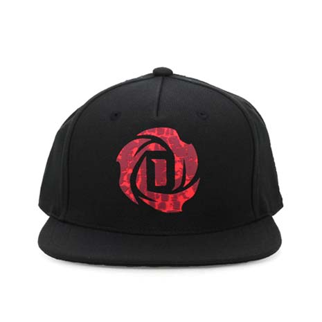 【ADIDAS】D ROSE 5.0-運動帽-鴨舌帽 帽子 慢跑 遮陽 防曬 愛迪達 黑暗紅F