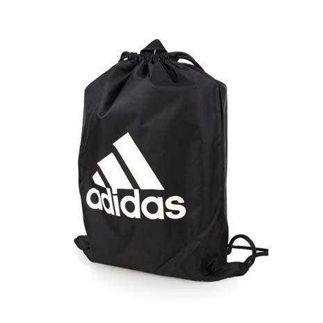 【ADIDAS】束口袋-鞋袋 雙肩包 後背包 收納袋 愛迪達 黑白F