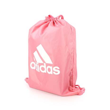 【ADIDAS】束口袋-鞋袋 雙肩包 後背包 收納袋 愛迪達 桃紅白F