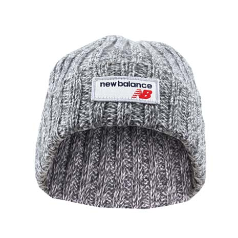 【NEWBALANCE】毛線帽-針織帽 毛帽 保暖 NB 灰F