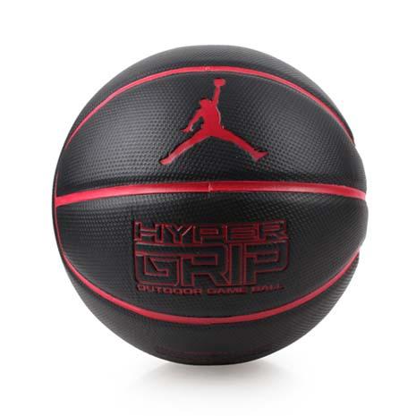 【NIKE】JORDAN HYPER GRIP 7號籃球-飛人喬丹 戶外 黑紅F