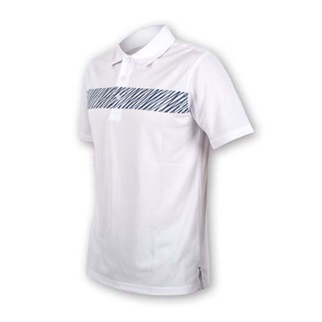 【FIRESTAR】男短袖吸排POLO衫-高爾夫球 立領 白丈青XL