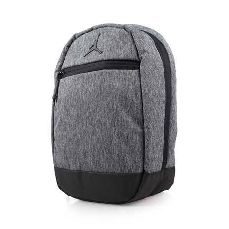 【NIKE】JORDAN 男女童小背包-飛人喬丹 雙肩包 後背包 運動背包 墨灰黑F