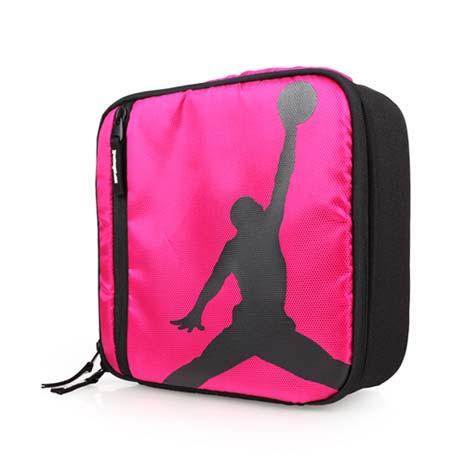 【NIKE】JORDAN 野餐包-飛人喬丹 露營 戶外 旅行 保溫 保冷 手提袋 桃紅黑F