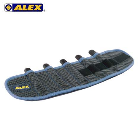 【ALEX】第二代十格式加重綁腿-台灣製 加重器 調整式 健身 肌力訓練 藍F
