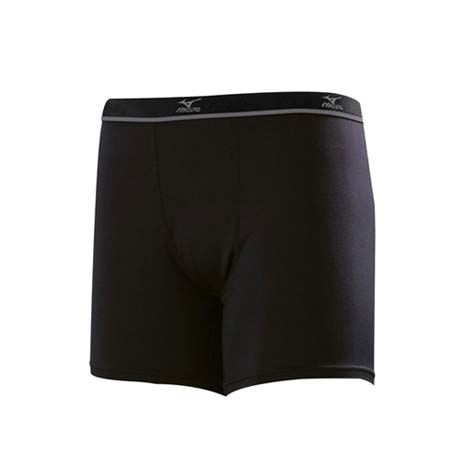 【MIZUNO】男運動內褲-短褲 美津濃 黑灰XL