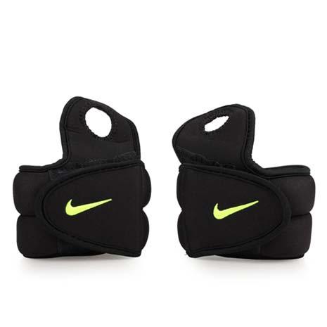【NIKE】手腕加重器 2.5LB-1對-健身 有氧 重量訓練 黑螢光綠F