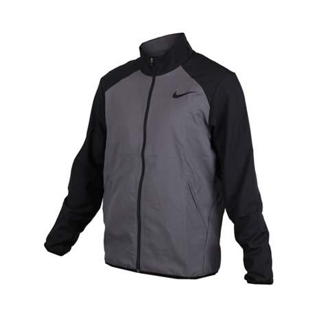 【NIKE】男梭織夾克-立領外套 慢跑 路跑 灰黑M