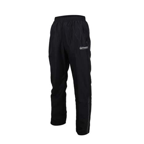 【FIRESTAR】男防潑水防風長褲-慢跑 路跑 網布內裡 運動長褲 黑灰M