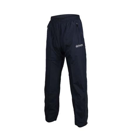 【FIRESTAR】男防潑水防風長褲-慢跑 路跑 網布內裡 運動長褲 丈青灰L
