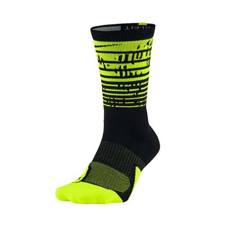 【NIKE】男籃球襪-長襪 襪子 黑螢光綠M