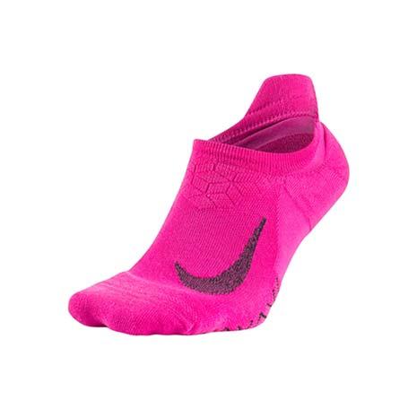 【NIKE】精英緩震女短襪-慢跑 路跑 訓練 襪子 一雙入 粉紅黑L