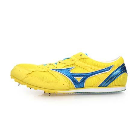 【MIZUNO】GEO SPLASH LX-1 男女田徑釘鞋-中長距離 美津濃 黃寶藍26.5