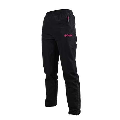 【FIRESTAR】女防潑水防風長褲-慢跑 路跑 風褲 黑桃紅XL