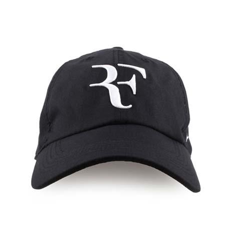 【NIKE】運動帽-帽子 鴨舌帽 網球 防曬 遮陽 ROGER FEDERER 黑白F