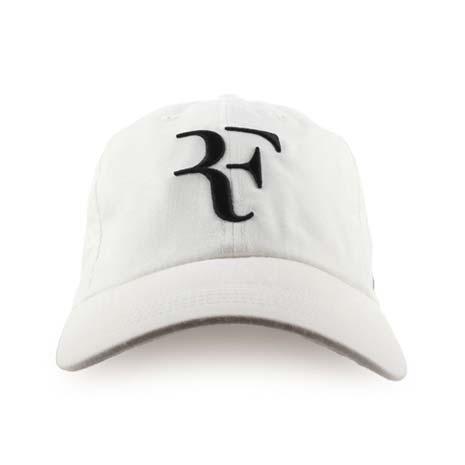 【NIKE】運動帽-帽子 鴨舌帽 網球 防曬 遮陽 ROGER FEDERER 白黑F