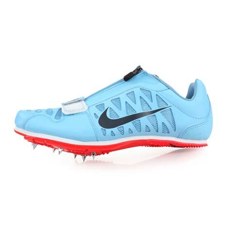 【NIKE】ZOOM LJ 4 限量-男女田徑跳遠釘鞋-跳高 撐竿跳 競賽 附鞋袋 水藍灰30.5