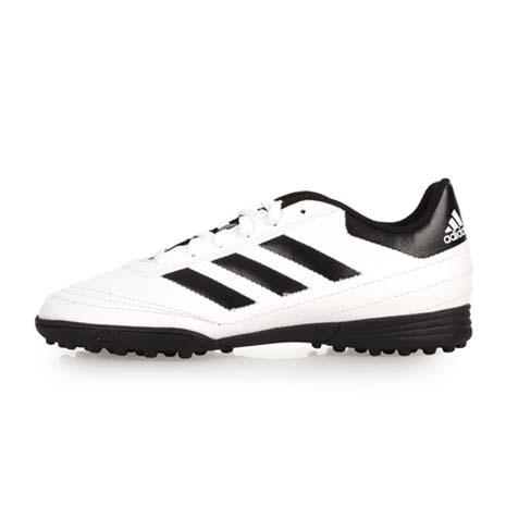 【ADIDAS】GOLETTO VI TF J 男女大童足球鞋-愛迪達 白黑23
