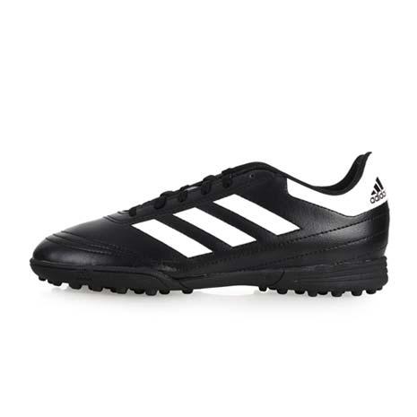 【ADIDAS】GOLETTO VI TF J 男女大童足球鞋-愛迪達 黑白23.5