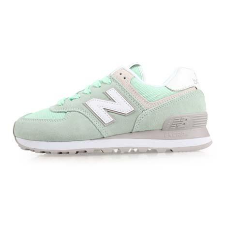 【NEWBALANCE】574系列 女復古休閒鞋-B-NB N字鞋 淺綠白25.5