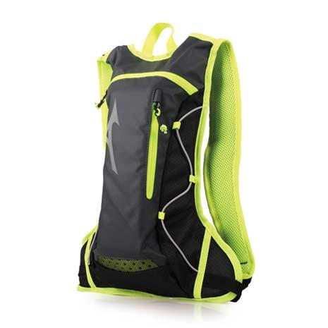 【MIZUNO】運動後背包-附1.5L水袋-雙肩包 旅行包 美津濃 黑螢光綠F