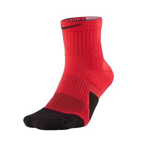 【NIKE】男菁英籃球長襪-襪子 紅黑L
